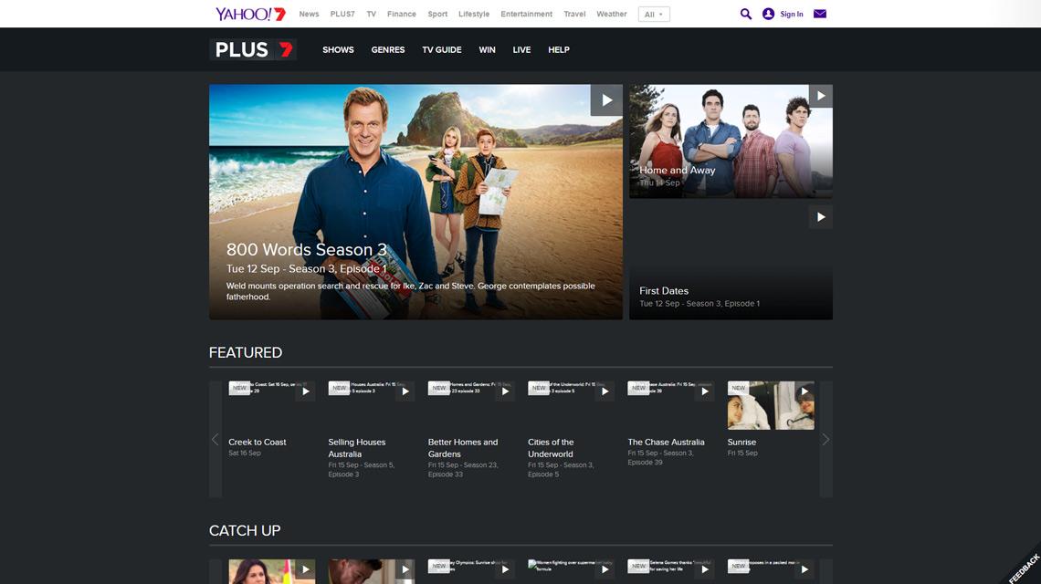Old PLUS7 website